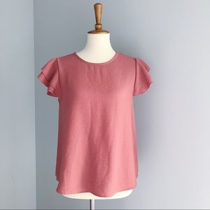 Ces Femme Short Sleeve Blouse Size Small